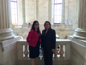 Andrea and Nancy in the Rayburn Building