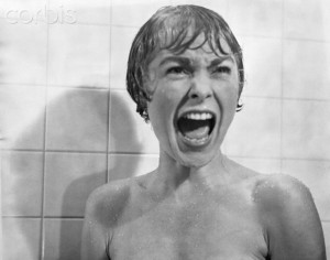 Janet Leigh Screaming in Psycho Shower Scene